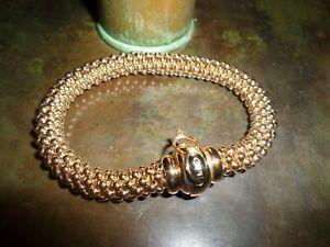 Vintage FOPE 750 18k Solid Gold Bracelet Vaggi Ponte Vecchio Florence