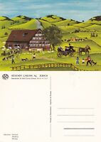 WEDDING A PAINTING BY I BERNHARD UNUSED ADVERTISING COLOUR POSTCARD