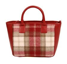 Mala Leather Abertweed Grab Bag (Red) Tweed & Leather  NEW  20458