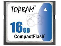 TOPRAM 16GB CF 16G Compact Flash 266X memory card high Speed w/case