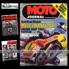 MOTO JOURNAL N°406 RUSS COLLINS JAPAUTO HONDA CX 500 & CBX 1000 PARIS-DAKAR 1979