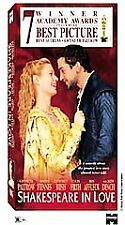 Shakespeare in Love (Vhs, 1999). New. Sealed.