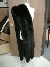 GLAMOROUS BLACK FOX DOUBLE ROW STOLE FLING WRAP BOA with TAILS COAT Mink access