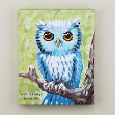 "NEW GLORY HAUS CANVAS PRINT - ANIMAL OWL BIRD ""OWL ALWAYS LOVE YOU ""  11 x 14"