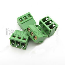 "10PCS PCB Screw Terminal Block 3 Pole 0.2"" 5mm Pin Pitch for 24-12AWG 300V 10A"