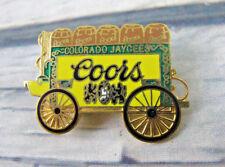 Colorado Jaycee Vintage Enameled Lapel Pin Coors Beer Barrel Cart Wagon