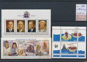 LN68163 Iceland 1994 mixed thematics sheets MNH cv 22 EUR