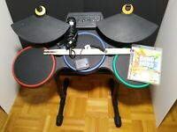 Playstaion 3 Wireless Drums Guitar Hero Bundle Microphone Dongle World Tour PS3
