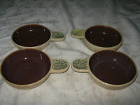 A Set of 4 1950's Australian Pottery Tom Sanders Designed Dorian Sands Ramekins