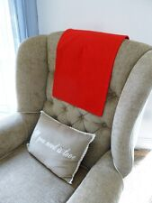 LARGE Chair Back Slip Arm Cover Cap Antimacassar Sofa Armchair Protector RED W