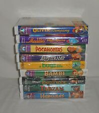 Lot of 9 New Sealed Disney VHS Tapes – Masterpiece, Limited Edition + More