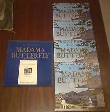 """Le Grandi Opere Liriche""""MADAMA BUTTERFLY""""Puccini/Cofanetto4LP+Libretto/Fabbri/70"""