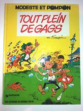 MODESTE ET POMPON tout plein de gags FRANQUIN journal de tintin 1973 EO BE