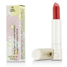 Clinique Long Last Soft Matte Lipstick -45 Matte Crimson 0.14oz/4g Full Size New