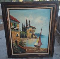 Vintage Original Oil on Canvas Painting - Signed - All Wood Frame - BEAUTIFUL