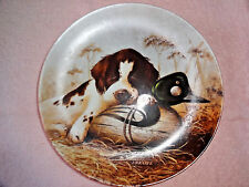 Knowles Plate Dog Tired Springer Spaniel First Issue Field Puppies Inc Paperwork