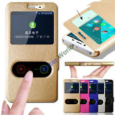 Magnetic Slim Flip PU Leather Stand View Window Case Cover for LG Smart Models