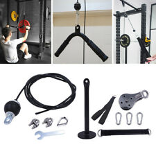 Pulley Cable Machine System Triceps Biceps LAT DIY Loading Pin Set-up Fittings
