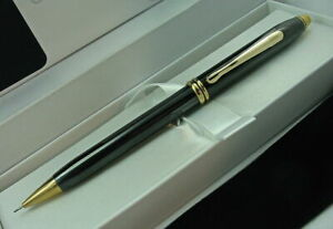 Cross  Townsend Pencil Titanium  & Gold 0.5mm Pencil New In Box 583  Made In Usa