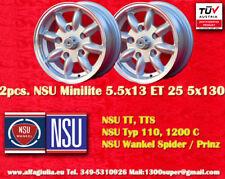 2 Cerchi NSU TT TTS Minilite 5.5x13 ET25 5x130 Wheels Felgen Llantas Jantes TUV