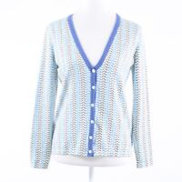 Light blue purple herringbone cotton blend J.MCLAUGHLIN cardigan sweater S