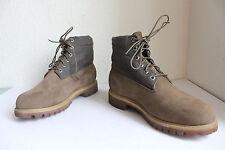 Timberland Elegante Schnür Boots Nubukleder-Textil Braun Eu:44,5-Us:10W------TOP