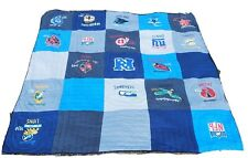 "Pottery Barn Kids Teens NFL Football Quilted Blanket 86"" x 86"" Full Large"