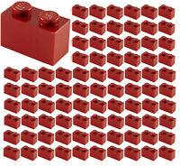 ☀️100x NEW LEGO 1x2 DARK RED Bricks (ID 3004) BULK Parts City Building