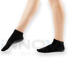 Yoga Chaussettes Antidérapante Pilates Massage 5 Toe Socks avec Grip Exercice Gym Noir