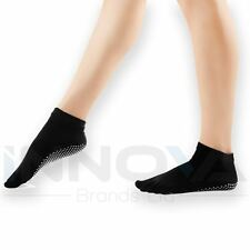Calcetines Yoga Antideslizante Pilates Masaje 5 Toe Socks Ejercicio Gimnasio Negro Con Agarre