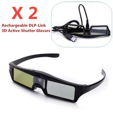 2X Universal Active 3D Glasses DLP-Link For Optoma BenQ Acer Sony DLP Projector