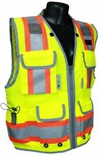 High Visibility Vest Two Tone Engineer Construction Safety PPE Standards Gas
