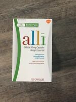 (New) Alli Weight Loss Aid 120 Capsules 60mg  exp 2020