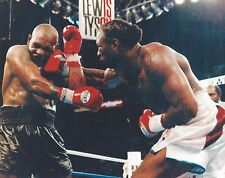 LENNOX LEWIS vs MIKE TYSON 8X10 PHOTO BOXING PICTURE HARD RIGHT BY LEWIS COLOR