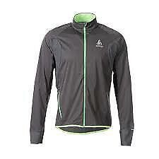 Odlo Zeroweig Jacket Mens Running Jacket Grey Green Full Zip Large *RCP