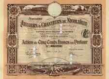 Ateliers Chantiers de Nicolaieff Nikolajew 1911 Odessa 500 Francs Titres Anciens