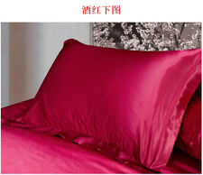 Summer New Silk Satin Soft Pillow Cases Queen Standard Comfort Solid Protector