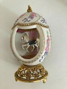 Franklin Mint - House of Faberge Musical Carousel Egg