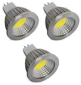 3pcs MR16 6 Watt LED Cool White 5000K Bi-Pin Base COB Light Bulb 12VAC - DC G4