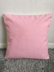 """NEW 14"""" PLAIN BABY PINK CUSHION COVER PILLOW BED SOFA MORE COLOURS SIZES AVAIL"""