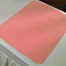 Twin Pack Washable Bed Pads incontinence-Bed Wetting,No Tucks, 2Ltr 85x90 Pink