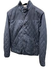Men's River Island Quilted Padded Jacket Small Blue
