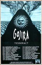 GOJIRA Magma Tour 2016 Ltd Ed RARE New Poster +FREE Metal Rock Poster! TESSERACT