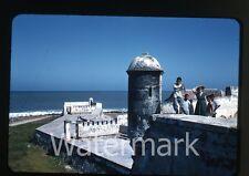 1957  kodachrome Photo slide  Colombia Cartagena wall    CC11