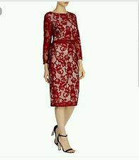 COAST * CORALLA * LACE MULBERRY SLEEVED  DRESS SIZE 12 NEW WITH TAGS