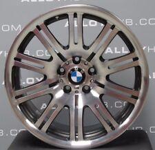 "GENUINE BMW M3 E46 67M GREY/POLISHED 19""INCH SINGLE FRONT ALLOY WHEEL X1 8J"