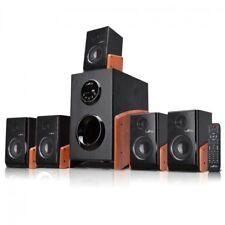 beFree Sound 5.1 Channel Surround Sound Bluetooth Speaker System Wood
