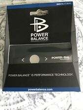 Original 2010 Power Balance Energy Health Band Bracelet Wrist Size Blk Small NIB