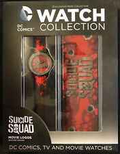 EAGLEMOSS DC COMICS WATCH COLLECTION SUICIDE SQUAD MOVIE LOGO WATCH