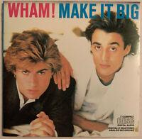 WHAM! MAKE IT BIG CD COLUMBIA USA 1984 SILVER FACE PRESS NEAR MINT